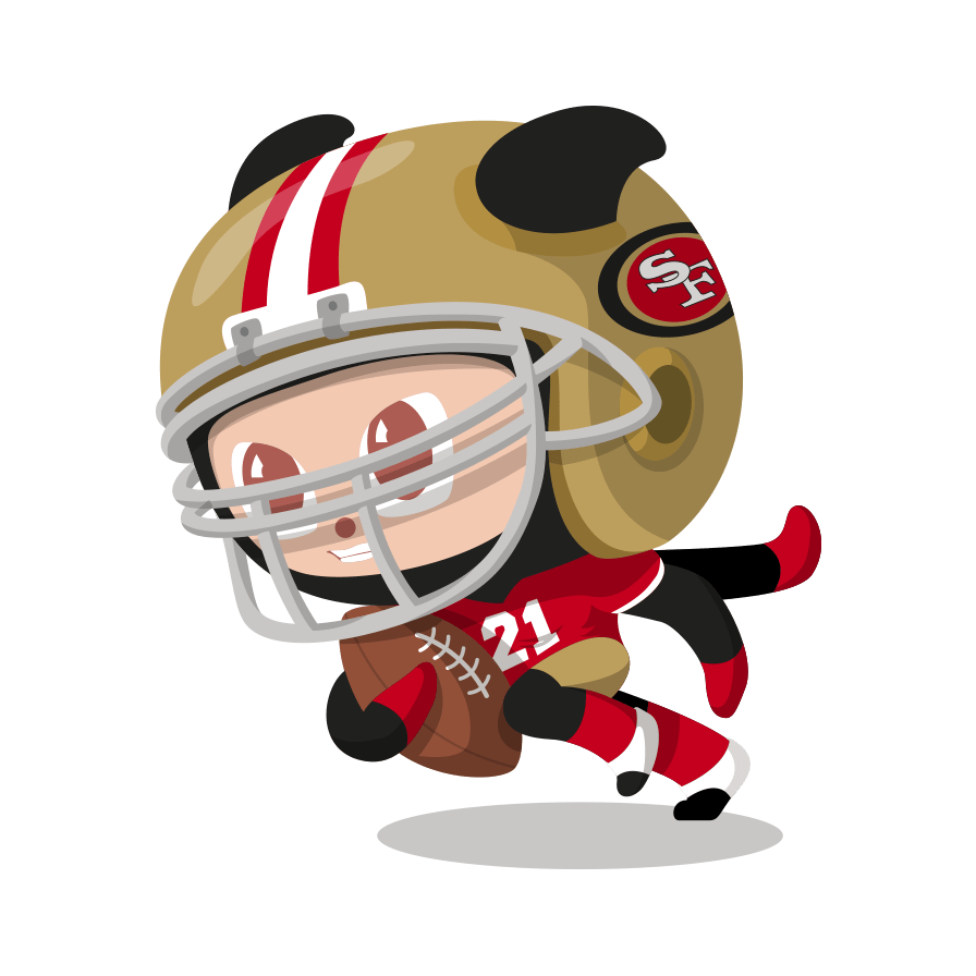 octocat dressed as a San Francisco 49er